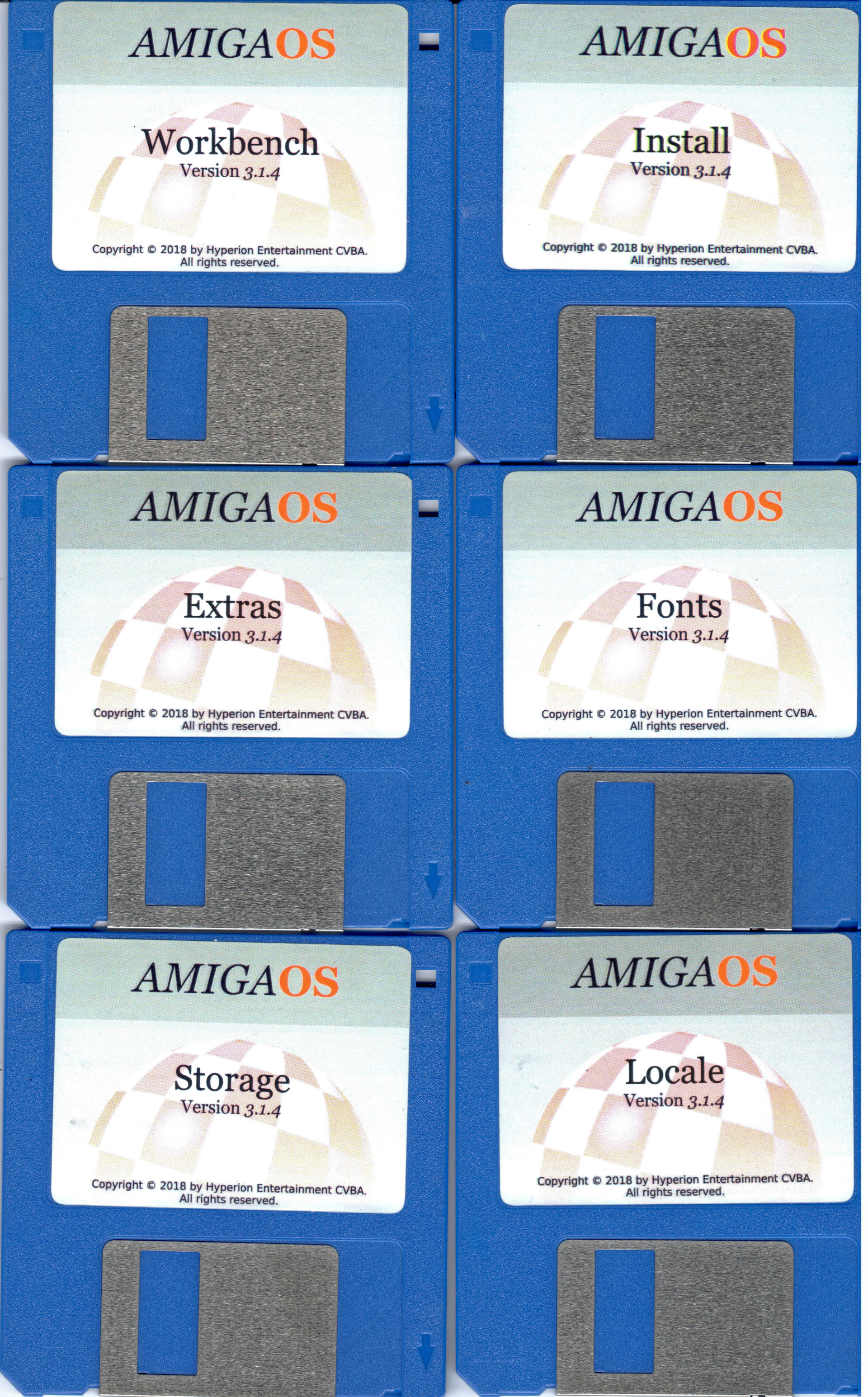 AmigaOS 3.1.4 Floppies